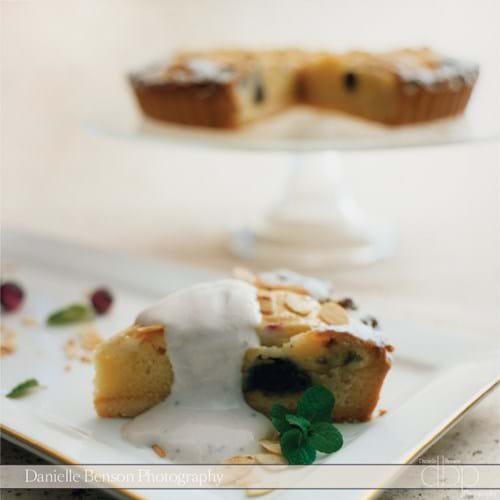 Blueberry Pear & Almond Flan